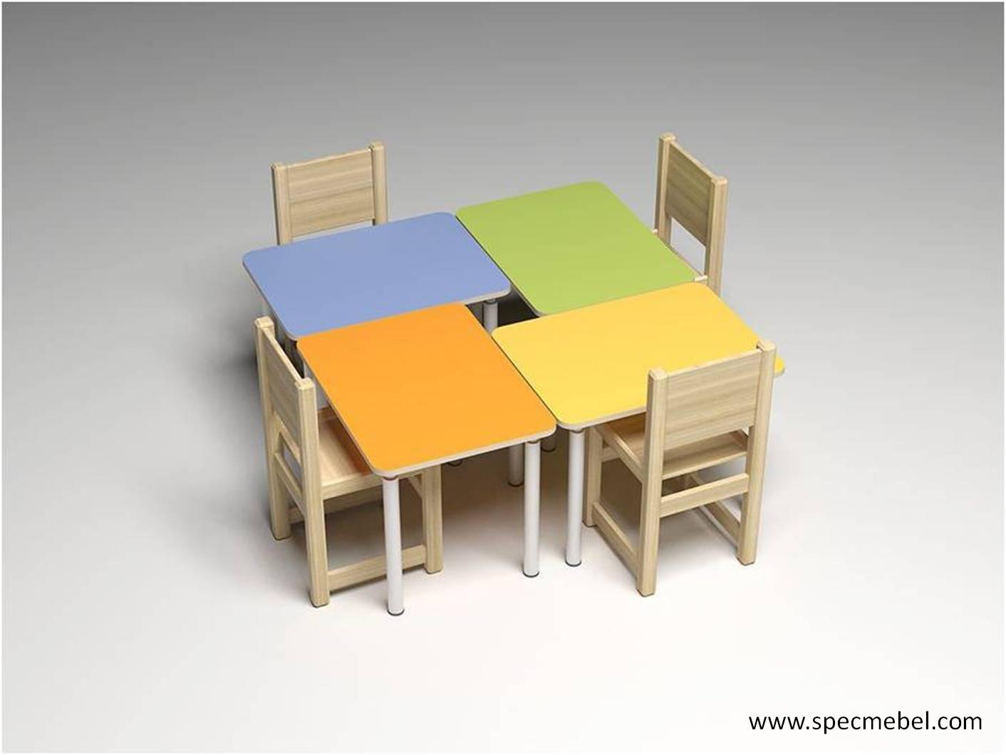 Стол 460/520/580х700х700, мебель мебель для детских учрежден.